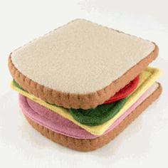 felt sandwich play food