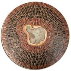 Mosaic Lazy Susan with petrified wood center made by ZaZa! Designs....sold
