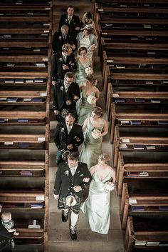 the wedding party walking down the aisle in Dunblane Cathedral Dunblane Hydro, Stirling Castle, Walking Down The Aisle, Cathedral, San Francisco, Wedding Photography, In This Moment, Party, Cathedrals