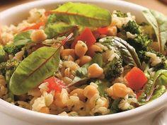 Cícerové rizoto s brokolicou