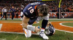 Jan 8 2012 - Tebow throws an 80-yard TD pass to Demaryius Thomas on the first play of OT to win his first NFL playoff game
