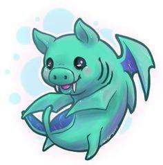 Tiny Duke Fishron has awoken! Duke Fishron from Terraria Art by: (me) Terraria Memes, Pikachu, Pokemon, Ghost Cat, Drawing Expressions, Art Memes, Beautiful Drawings, Animes Wallpapers, Fantasy Creatures