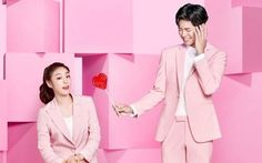 Park Bo Gum and Kim Yuna are a pretty couple in pink | http://www.allkpop.com/article/2016/03/park-bo-gum-and-kim-yuna-are-a-pretty-couple-in-pink