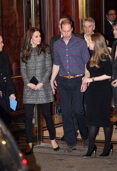 Catherine, Duchess of Cambridge and Prince William, Duke of Cambridge leave the residence of the British Consulate General on December 8, 2014 in New York City.