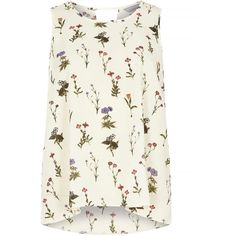 Dorothy Perkins Petite Ivory Stem Floral Cami Top ($29) ❤ liked on Polyvore featuring tops, ivory, petite, white tank, white tops, camisole tank top, petite tops and cami tank