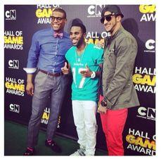 Cam Newton,  Jason Derulo, Kaepernick - cartoon network hall of games awards 2014