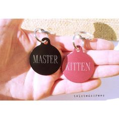 BDSM COUPLES key chain Customized engraving on BOTH sides christmas... (115 VEF) ❤ liked on Polyvore featuring bdsm, couples, sexy and toys