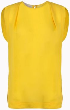 stella mccartney Silk Sheer Kelvin Top - Lyst