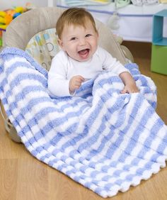 Heaven Sent Baby Blanket - Knit, US 8, Worsted