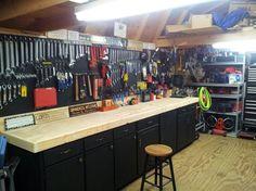 Garage Storage & Organization You'll Love in 2020 Garage Tool Organization, Garage Tool Storage, Basement Storage, Garage Tools, Garage Loft, Garage House, Diy Garage, Garage Shop, Garage Ideas