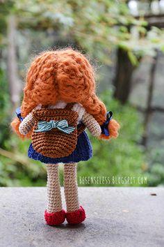 Amigurumi doll - back to school with wool - besenseless.blogspot.com