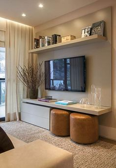 Are you looking for interior decorating ideas to use in a small living room? Small living rooms can look just […] Small Space Living Room, Small Room Design, Living Room Tv, Cozy Living, Small Living Room Ideas On A Budget, Small Condo Living, Small Tv Rooms, Modern Small Living Room, Tv Wall Ideas Living Room