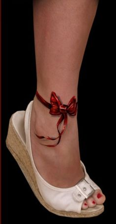 realistic bow cover up for ankle but larger
