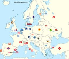Metro Signs in Europe