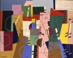 Landscape, 1920 by Georges Valmier. Cubism. abstract