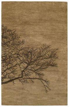 Capel Desert Plateau-Shadow Branch 43671 Tree Bark Area Rug