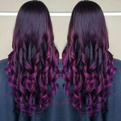#hairstyle #purple #