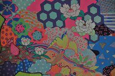Sakura Gel Pen and acrylic painting