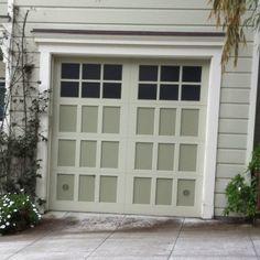 Faux carriage doors automatic garage door