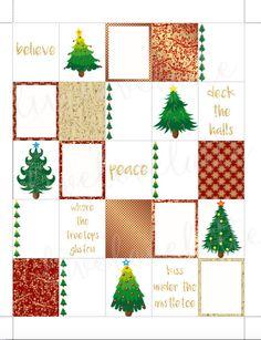 CHRISTMAS TREES GOLD Erin Condren (Vertical) Planner Stickers - digital - Instant Download by LiveLoveLatte on Etsy