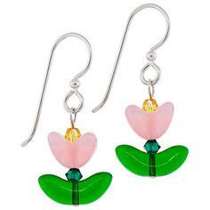 Tulip Fields Earrings | Fusion Beads Inspiration Gallery