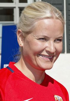 Crown Princess Mette-Marit of Norway was enjoying a rather different kind of royal duty. The annual event organized with the Norwegian Football Federation may have been a friendly, but the royals couldn't help showing off their competitive side. But despite the family's enthusiasm, LSK Unified - made up of people with disabilities - emerged victorious.