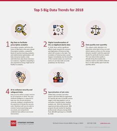 Top 5 Big Data Trends to Look for in 2018 [Infographic] Data Quality, Data Recovery, Data Science, Big Data, Machine Learning, To Focus, Infographic, Coding, Digital