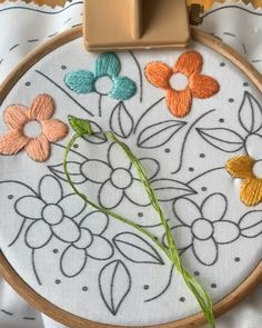 Watch this: Floral Embroidery Kit- Hand Embroidery Kit- Embroidery Kit- Beginner embroidery kit- DIY embroidery kit- Flowers Embroidery Kit- Spring Gift Diy Embroidery Kit, Hand Embroidery Videos, Hand Embroidery Flowers, Embroidery Stitches Tutorial, Flower Embroidery Designs, Creative Embroidery, Embroidery Patterns Free, Learn Embroidery, Cross Stitch Embroidery