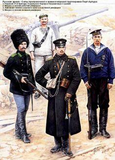 Русская армия в русско-японской войне - Силы приграничной и военно-морской группировки Порт-Артура