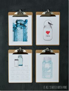 Free Mason Jar Print