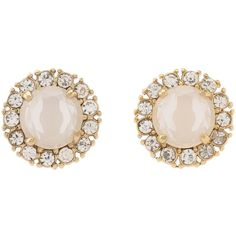 Kate Spade New York Secret Garden Stud Earrings Earring ($58) ❤ liked on Polyvore featuring jewelry, earrings, accessories, brincos, jewels, white, clear earrings, sparkly earrings, clear crystal jewelry and sparkle jewelry