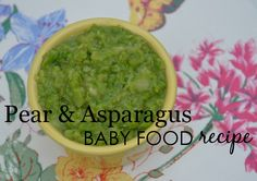Pear and Asparagus Puree
