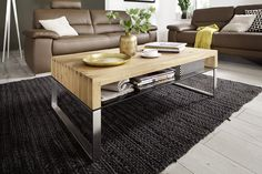 Alana Rectangular Coffee Table In Knotty Oak With Metal Legs And Glass Shelf in Bronze, will be a focal point in your living room. It is manufactured from Knotty Oak and supported by Metal Stainles. Narrow Coffee Table, Coffee Table With Drawers, Coffee Tables For Sale, Coffee Table Rectangle, Coffe Table, Modern Coffee Tables, Designer Couch, Table Cafe, Contemporary Side Tables
