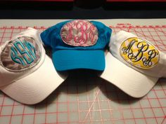 Raggedy Shabby Chick Chevron Hat /  These Hats Are Perfect for Anytime - Absolutely to stinking Cute Great for Boating, Ball Games, or riding in the jeep with the top off..  Monogrammed Chevron Shabby Chick Chevron Hats  Features:100% washed cotton twill 6-panel Unstructured Side metal ey...
