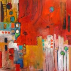 Artist: Jeanne Bessette #abstract #painting #art  www.artsyshark.com