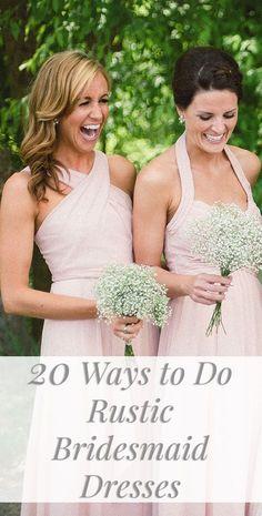 20 Ways to Do Rustic Bridesmaid Dresses!