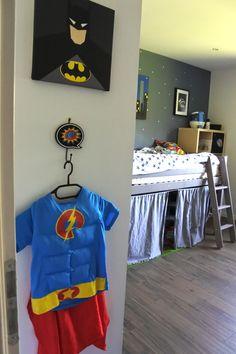 chambre super héros Chambre Nolan, Kura, Superhero Room, House Tours, Baby Room, My House, Bed, Home Decor, Ajouter