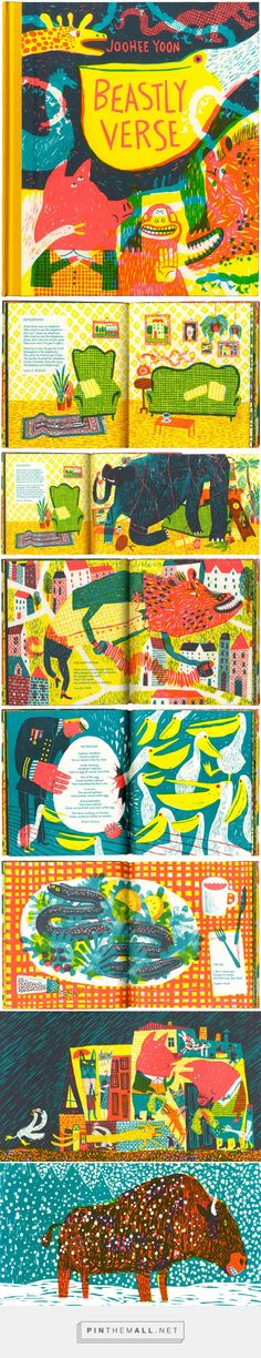 """""""Beastly Verse"""" by JooHee Yoon (just ordered my copy and can't wait). Buch Design, Art Design, Joohee Yoon, Books Art, Edition Jeunesse, Book Layout, Children's Book Illustration, Illustrations And Posters, Graphic"""