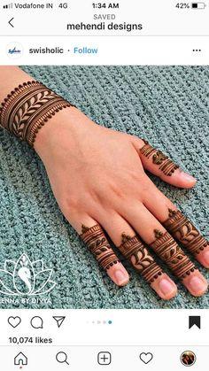 Pretty Henna Designs, Indian Henna Designs, Rose Mehndi Designs, Bridal Henna Designs, Henna Designs Easy, Dulhan Mehndi Designs, Latest Mehndi Designs, Mehndi Designs For Hands, Finger Henna