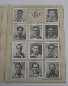 Real Betis. Cromos Editorial Cisne 1942-43. Liga Española.