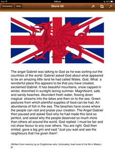 Many years ago I read this story somewhere and it has stayed in my mind. I think it is quite hilarious but it does portray that love hate relationship that exists. History has proven that when the need arises we stand together as true brothers. Long live the Welsh Guards! jp.