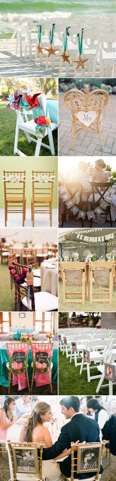 33 Summer Wedding Chair Décor Ideas