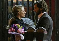 """Romantic Moment of the Week: The Age of Adaline and Book Flowers; Did anyone else love the scene when Ellis gives Adaline books with flowers in the title (IE: Daisy Miller) as a """"bouquet?"""" I loved it."""