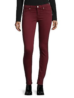 Nico Skinny Ankle Jeans - Dark Amber by Hudson at Gilt Dark Skinny Jeans, Skinny Pants, Skinny Fit, Black Jeans, Purple Jeans, Veronica Beard, Button Fly Jeans, Hudson Jeans, Super Skinny