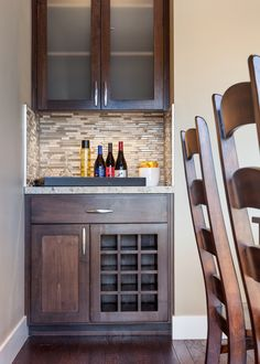 Dry Bar and wine storage in custom #designbuild residence in Eugene Oregon. #jordaniversonsignaturehomes.com                                                                                                                                                                                 More