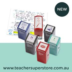 NEW: The Literacy Place - Teacher Stamps.  These teacher stamps are far more than your average reward system! Each design encourages students to act or reflect on a range of processes - from peer-checking work to identifying strengths and weaknesses.  To learn more and purchase your own stamps, visit us online today. Teacher Stamps, Reward System, Teaching Aids, Literacy, Reflection, Encouragement, Students, Stationery, Range