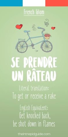 French idiom Se prendre un rateau