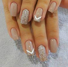 Pin on Nail art Pin on Nail art - nails - Nageldesign Cute Acrylic Nails, Acrylic Nail Designs, Glitter Nails, Cute Nails, My Nails, Easy Nail Art Designs, Neutral Acrylic Nails, Glitter French Nails, Neutral Nail Designs