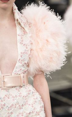 Looking for more pink palette fashion & street style ideas? Check out my board: Blush Pink Street Style by @aureliansupply  Street Style // Fashion // Spring Outfit  Chanel Haute Couture Spring 2017