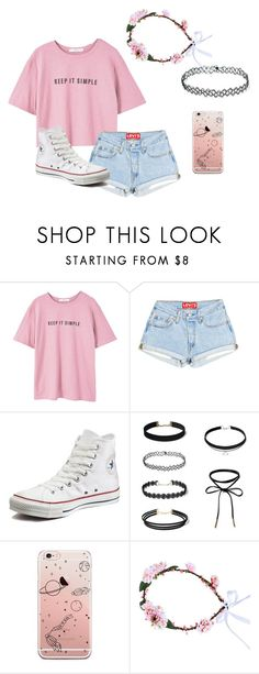 """Untitled #468"" by sillydilly-1 ❤ liked on Polyvore featuring MANGO and Converse"